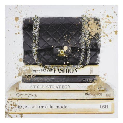 black and gold jetsetter canvas art