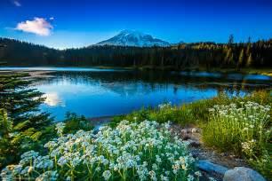 Click to enlarge image mount rainier national park reflection lake