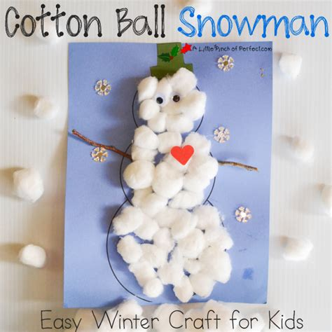 cotton ball snowman printable template cotton ball snowman easy winter craft for kids
