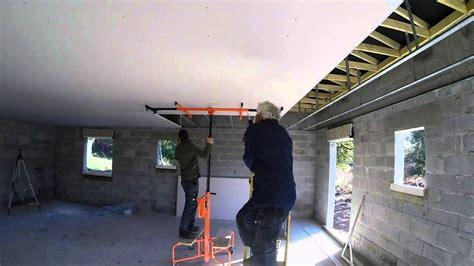 Plaque De Plafond 6960 by Plafond Placo Ba13 Quatri 232 Me 233 La Pose Des Plaques De
