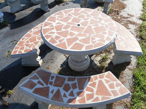 Cement Patio Tables Patio Table Sets The Cement Barn Manufacturers Of Quality Concrete Statues Garden Center