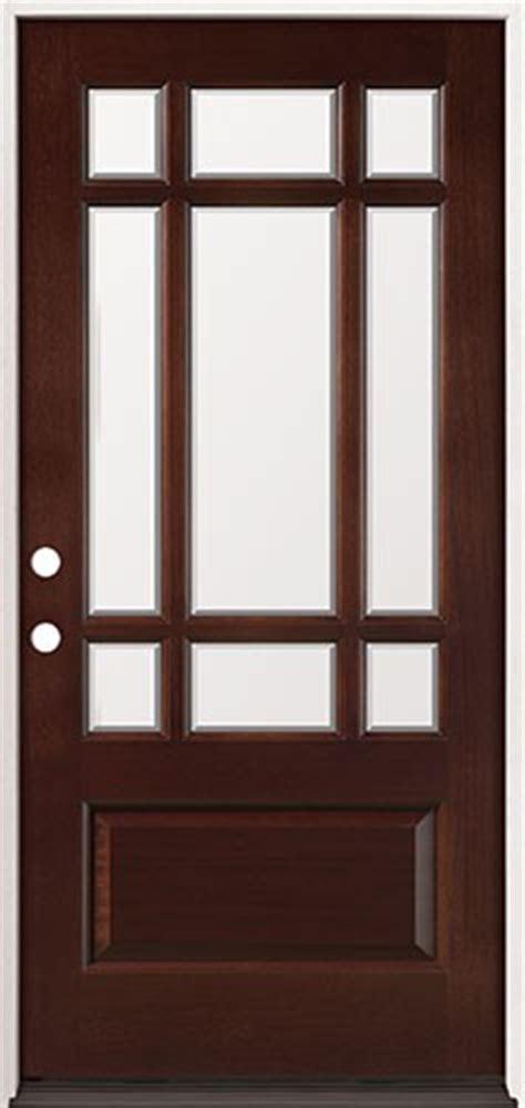 Discount French Doors - discount 9 lite craftsman mahogany prehung wood door unit 32