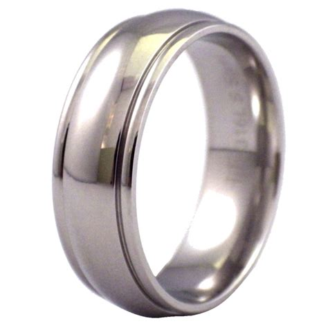 Steel Ring unisex stainless steel ring 7mm simple wedding band size 5 15