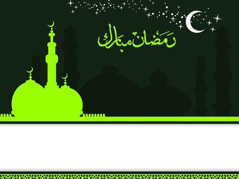 Islamic Ramadan Kareem Backgrounds Black Green Religious White Templates Free Ppt Free Islamic Powerpoint Templates