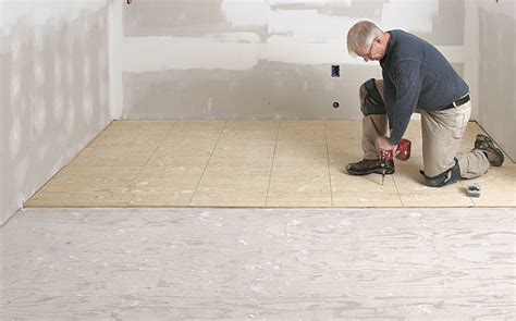 prep a subfloor for tile homebuilding