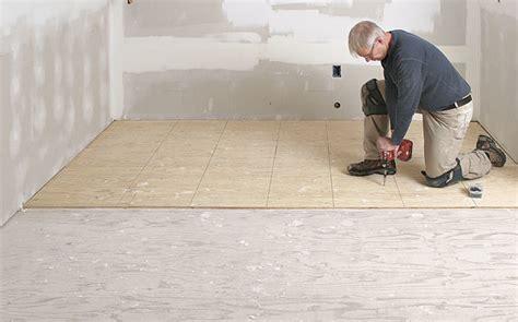 Prep a Subfloor for Tile   Fine Homebuilding