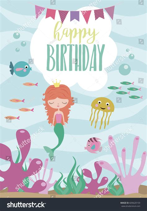 animal birthday card template happy birthday greeting invitation card template stock