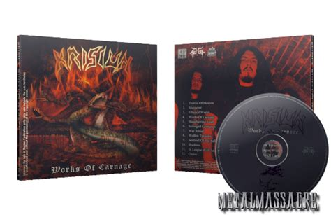 Cd Krisiun Works Of Carnage krisiun works of carnage reissue 2009 limited edition