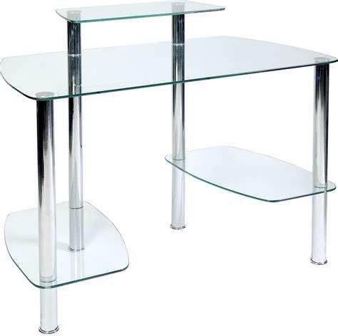 glacier glass computer desk glass workstation for home