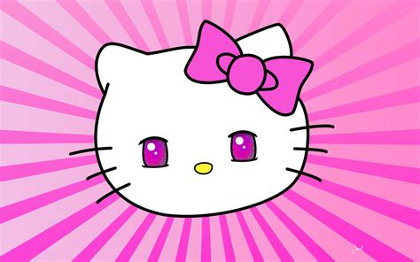 pink  kitty wallpaper wallpapersafari