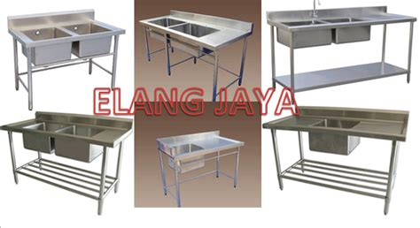 S S Sink Table Meja Cuci Piring St 1255 elang jaya menerima pemesanan pembuatan sink table meja stainless rak stainless grease trap