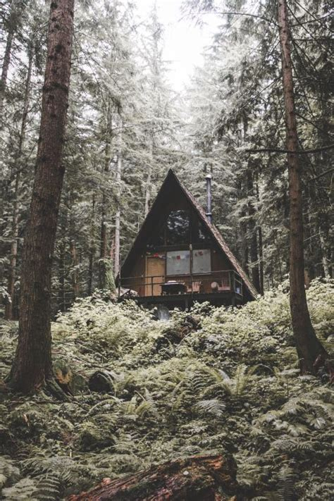 wood cabin cabin in the woods a frame triangle house