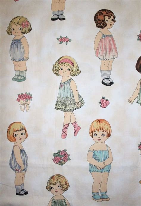 How To Make Fabric Paper Dolls - dolls sold separately paper doll fabric large by sherri
