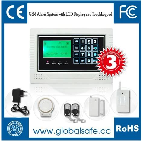 china gsm wireless lcd display and touch screen home