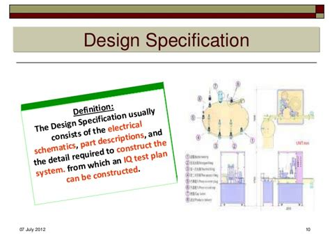 design specification meaning qualification validation concept terminology