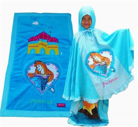 Princess Biru mukena anak lucu toko bunda