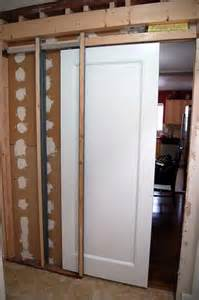 how do i install a pocket door in a new wall the home