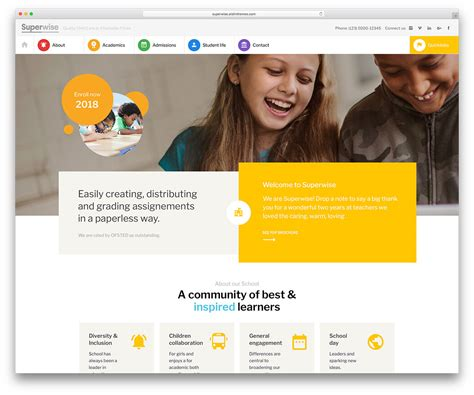 education website 46 awesome responsive education themes 2019