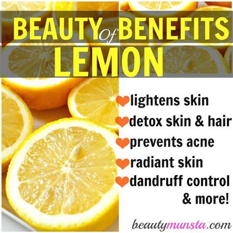Lemon Detox Skin Benefits by 20 Benefits Of Lemon For Skin Hair More