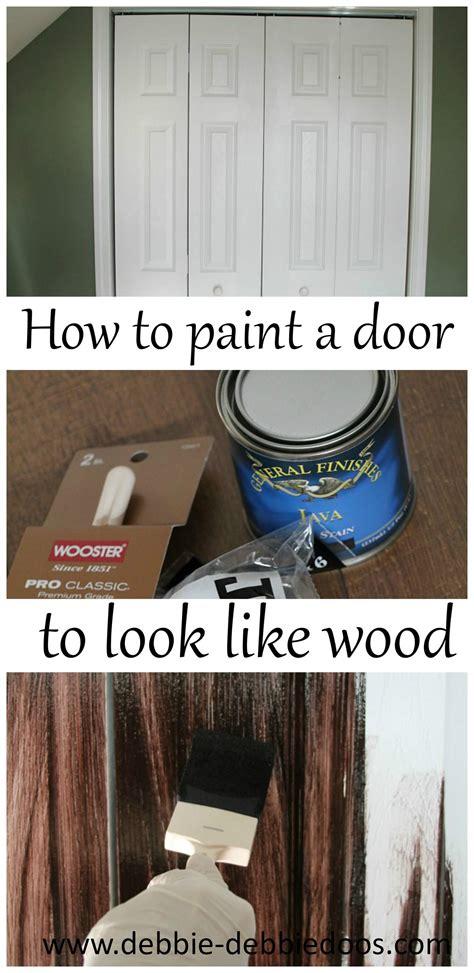 paint  plain white door    wood debbiedoos