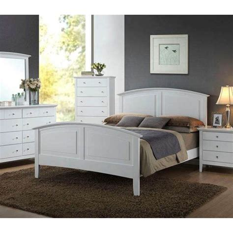 Modern Furniture Whiskey Bedroom Set 1pc White Full Size Bedroom Furniture Sets Size Bed