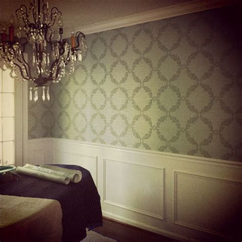 wallpaper dining room chair rail dining room wallpaper for the home