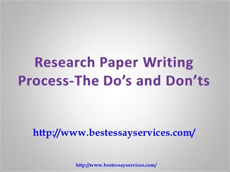 Dos And Don Ts Of Essay Writing by Research Paper Writing Do S And Don Ts