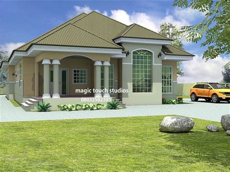 Bungalow Design 5 Bedroom Bungalow House Plan In Nigeria 5 Bedroom