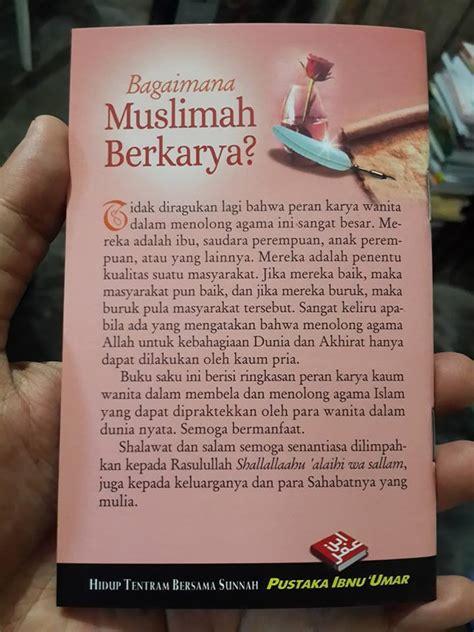 Buku Saku Amalan Di Malam Dan Hari Jum At buku saku bagaimana muslimah berkarya toko muslim title