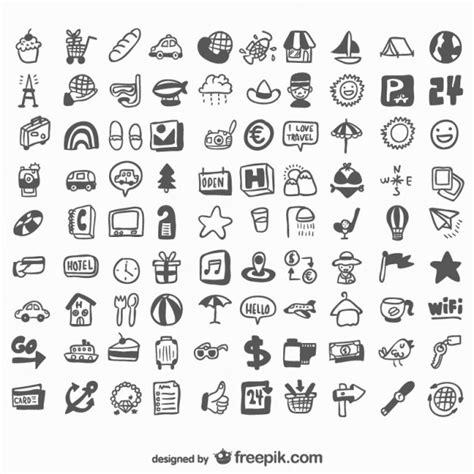 doodle draw icon pack universal gezeichnet reihe icons der