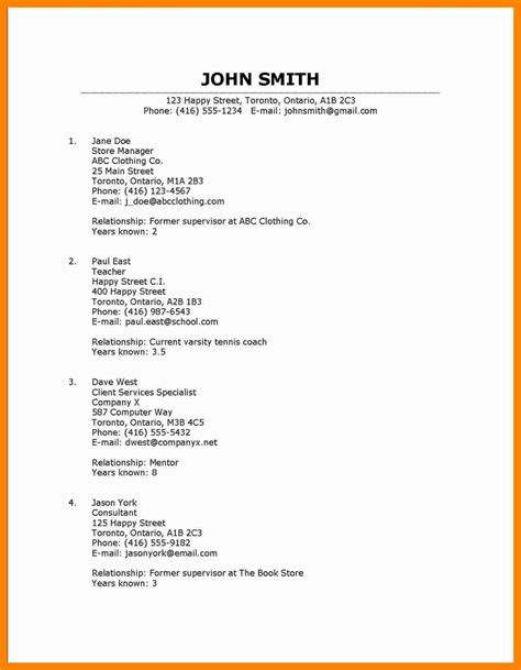 Resume References Template by Resume Resume Reference Template