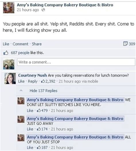 arizona bakery facebook meltdown follows kitchen dlisted the best thing to come out of the amy s baking