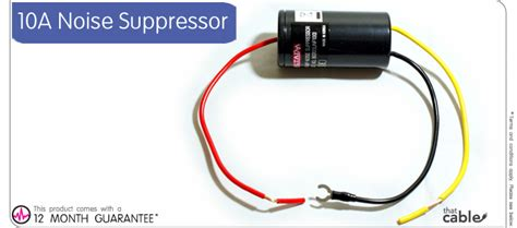 10a noise suppressor filter box car cd radio eliminate