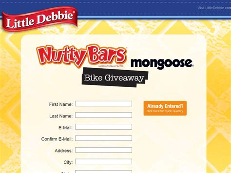 Little Debbie Giveaway - little debbie bicycle giveaway sweepstakes fanatics