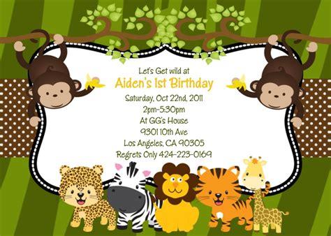free printable jungle stationary jungle safari animals birthday party invitations