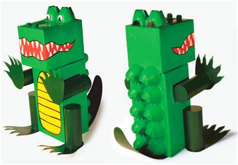 imagenes de animales reciclados manualidades recicladas 5 animales de cart 243 n pequeocio