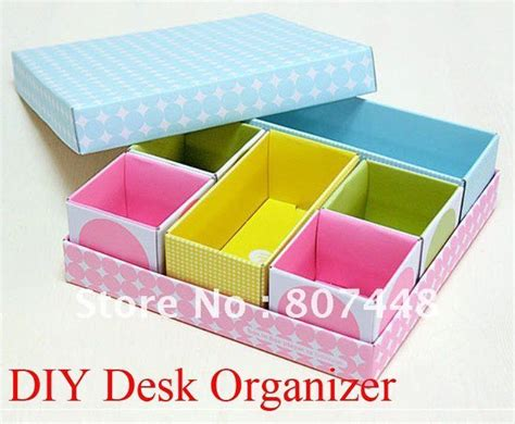 Diy Desk Organizer Paper Box Set Storage Diy Projects To Desk Organizer Diy
