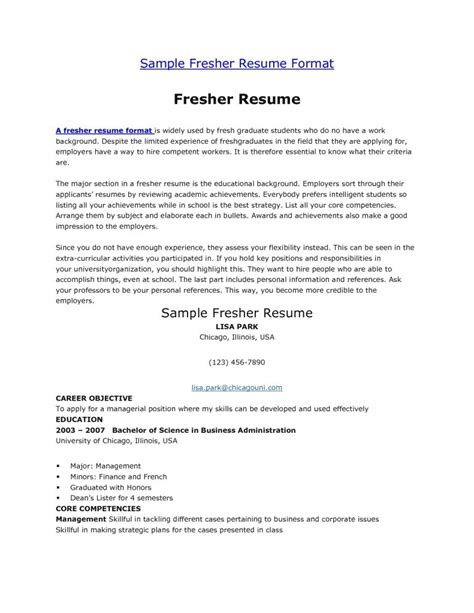 resume format for fresher school filetype doc sle resume for fresh graduate in india image collections certificate design and template