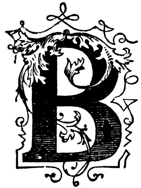 Decorative Letter B by B Letters Clipart Best