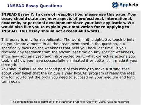 Insead Mba Questions by Insead Essay Questions