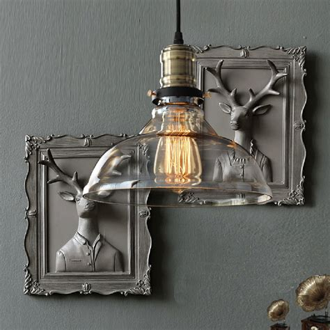 Diy Industrial Light Fixture Diy Home Vintage Industrial Edison Bulb Glass Ceiling L Pendant Light Fixture Ebay