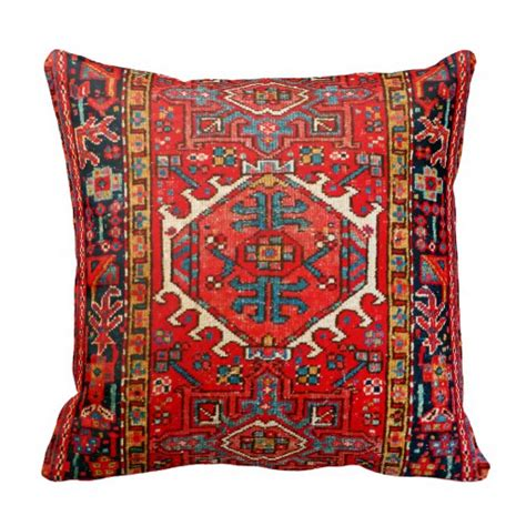 pillows made from rugs carpet rug pattern from iran throw pillows zazzle