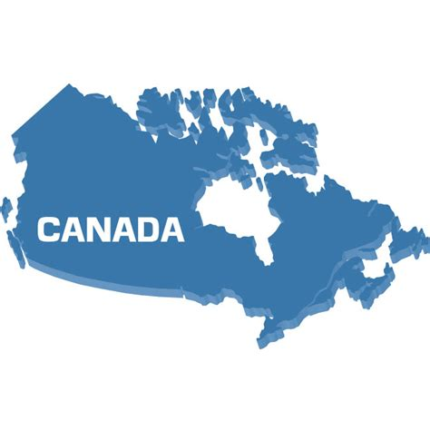 canada map vector outline map of canada vector at vectorportal