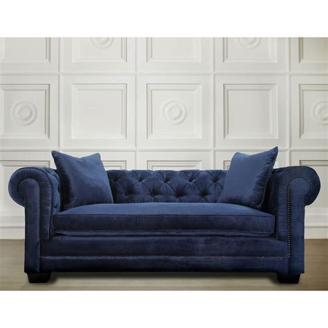 Modern Living Room Furniture Luxury Velvet Blue Sofa Modern Blue Sofa