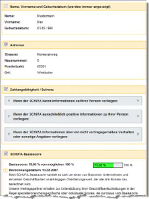 Was Steht In Der Schufa Für Vermieter by Mehr Transparenz Durch Kostenlose Daten 252 Bersicht Und