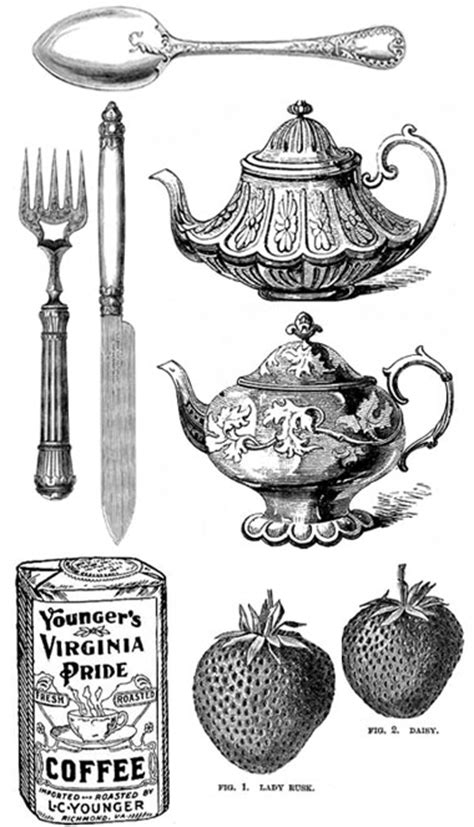 Vintage Kitchen Clipart by Fashioned Free Kitchen Motifs I Do It Yourself 174
