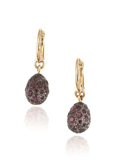orecchini pomellato argento paio di orecchini pendenti pomellato in oro rosa