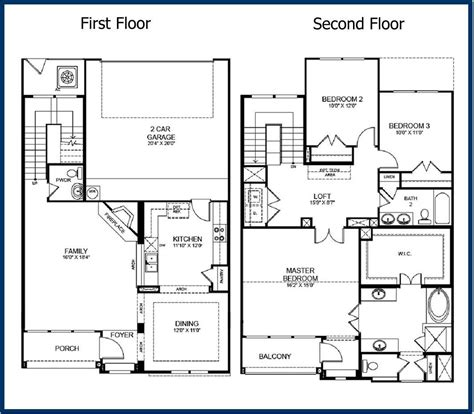 floor plans 2 story homes floor plans for two story homes ahscgs com