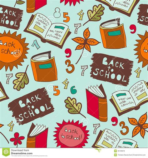 background pattern book back to school illustration seamless royalty free stock