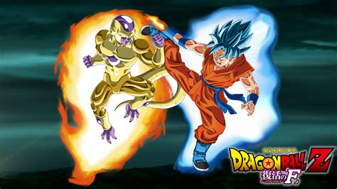 dragon ball z resurrection wallpaper goku ssj god ssj vs golden freeza computer wallpapers